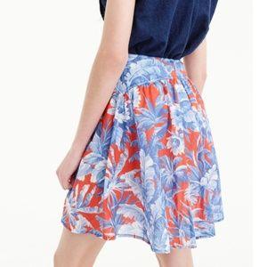 J Crew Tiered mini skirt Ratti Rio floral